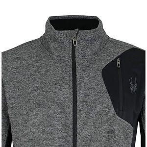 Spider Men's Medium Full Zip Charcoal Sweater New